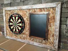 Wine Cork Dart Board Backerboard & Scoreboard 49 x Dartboard Backer, Dartboard Ideas, Wood Projects, Woodworking Projects, Wine Cork Crafts, Man Cave Home Bar, Game Room Decor, Dart Board, Making Ideas
