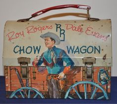 Vintage Roy Rogers Dale Evans Metal Chow Wagon Lunchbox Western 1950's had this one!