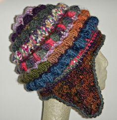 Freeform Freestyle Crochet Helmet Hat with Earflap by woolmountain, $30.00
