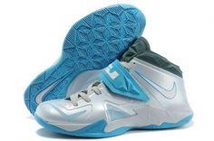 half off c8446 07a02 Nike Lebron Soldier VII Grey Blue Shoes  62.98 (60% Off) US  156.98