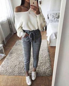 looks mode Femme pour printemps 2018 - 2019 Bilder Fotos Cute Fashion, Look Fashion, Winter Fashion, Party Fashion, Plaid Fashion, Classy Fashion, Fashion Styles, Trendy Fashion, Mode Outfits
