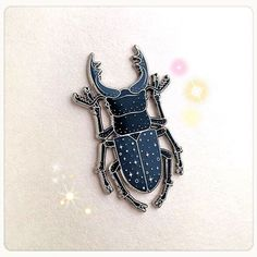 Stag Beetle pins by Caitlyn Stout