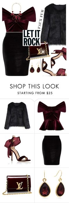 """""""#fauxfur"""" by liligwada ❤ liked on Polyvore featuring Chicwish, Emilio De La Morena, Gianvito Rossi, Miss Selfridge, Adoriana and GUESS by Marciano"""