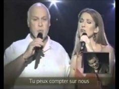 Celine Dion & René Angelil (her husband) singing together!