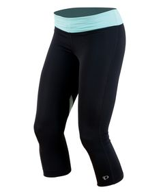 Look at this Pearl Izumi Black & Aruba Blue Fly Three-Quarter Tights on #zulily today!