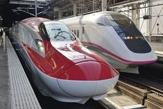 Red girly bullet train!