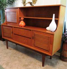 Houston:  Sideboard Buffet Cabinet or Desk Mid Century Modern Teak $395 - http://furnishlyst.com/listings/255281