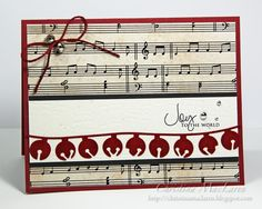 Christmas card ... luv the music theme and all these shiney bells ...