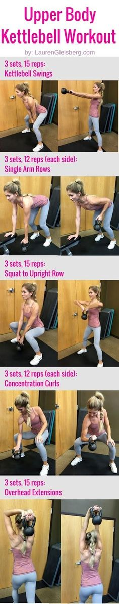 Upper Body Kettlebell Workout | click image for the full workout plan