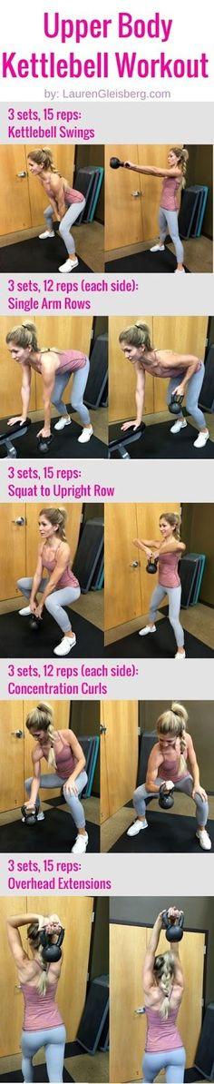 Upper Body Kettlebell Workout | #LGLoveYourselfFit Challenge by LaurenGleisberg.com