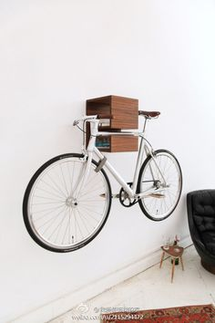 Bike storage that keeps your books handy. Always good to read and bike.
