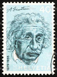 Suisse - circa 1972 : un timbre imprimé en Suisse montre albert einstein, physicien théoricien, théorie de la relativité générale, circa 1972