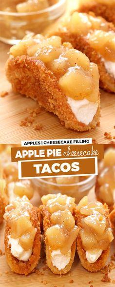 Apple Desserts, Apple Recipes, Fun Desserts, Delicious Desserts, Dessert Recipes, Yummy Food, Taco Dessert, Pie Dessert, Salad Recipes
