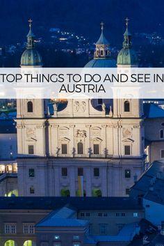 Austria travel and wanderlust inspirations.  Austria Top 10 Things to do in Salzburg, Hallstatt, Vienna, Zell am See, Grossglockner, Krimml, Innsbruck  CLICK for more !