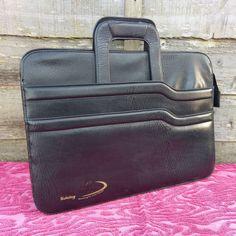 Black A4 Portfolio Work Document Briefcase Conference Folder - Leatherette #UnbrandedGeneric