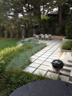 2x2' concrete pavers -another example of the pavers, you can install grey crusher fines in between them for a nice clean look.