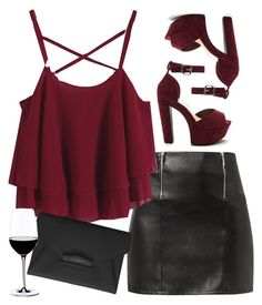 """""""Wine."""" by opserica ❤ liked on Polyvore featuring Givenchy and Riedel"""