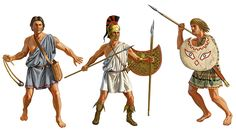 A peltast was a type of light infantry in Thrace and Paeonia who often served as skirmishers.