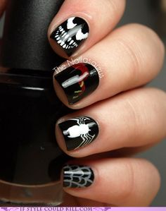If my fiancé regularly had his nails done, he'd occasionally have Venom nails.