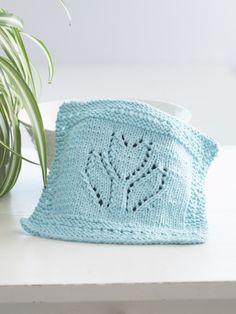 Spring Tulip Dishcloth   Yarn   Free Knitting Patterns   Crochet Patterns   Yarnspirations
