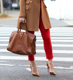 Red  + brown + gold
