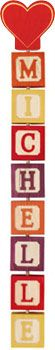 8-letter Hang-A-Name includes a starter shape and eight letter blocks of your choice. Each Hang-A-Name letter block is crafted from locally sourced, sustainably harvested pine with a non-toxic colored stain and clear finish. Click to purchase http://www.americantoyboutique.com/item_908/Hang-A-Name-8-Letters-and-Starter.htm Made in America $35.50