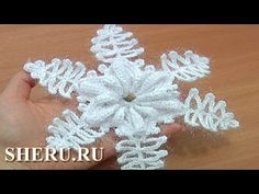 How To Make Crochet Snowflakes Урок 9 часть 1 из 2 Вязаная снежинка крючком - YouTube