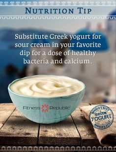 Substitute Greek Yogurt for Sour Cream