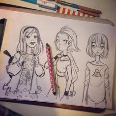 School girls by anna_cattish on Instagram