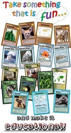 //////////////////PIN IT!///////////////////////  Animal and Plant Adaptations and Biome Trading Cards!   Want to really engage your students while teaching science lessons on biomes? Your students will never forget these trading cards while learning about plants, animals, and adaptations!    For all primary ages! (best suited for 2nd through 5th grade!)