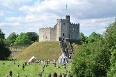 Cardiff Castle, Cardiff, UK.