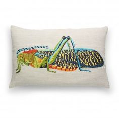 Grasshopper Pillow Cover $44