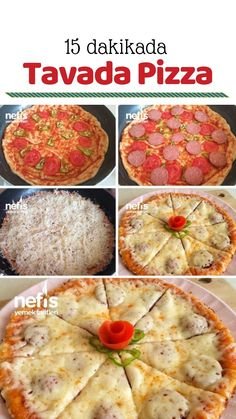 Practical Pan-fried Pizza Min) How to make a recipe? In the book of Breakfast Pastry (Pizza Taste) (with… How To Make Pizza, Food To Make, Food Design, Pizza Recipes, Cooking Recipes, Good Food, Yummy Food, Eat Pizza, Recipes