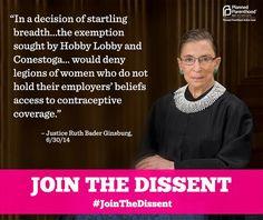 Ruth Bader Ginsburg Hobby Lobby Ruling