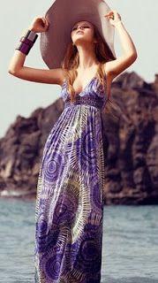 Vestido de playa con accesorios