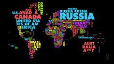 World Map of Nation Keyword