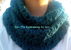 Soft N' Lacy Crochet Infinity Scarf  One by SewMeInspirationbyJo