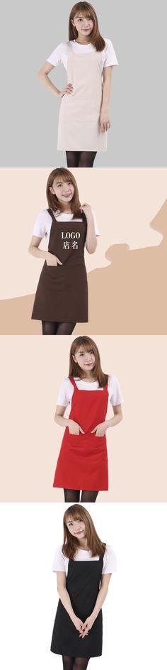 Waterproof work apron men and women waiter restaurant network coffee nail hotel Korean fashion