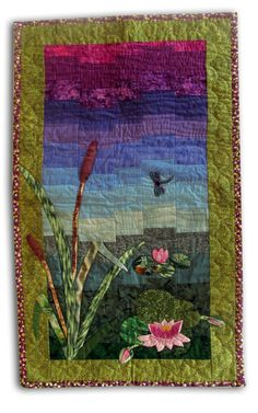 Lovely Quited Wall Hanging with Dragonfly ... by SultansTouch, $285.00