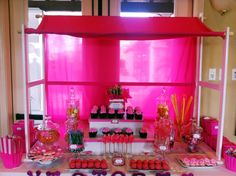 My latest pink candy table