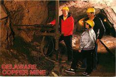 Postcard Delaware Copper Mine #2, Michigan