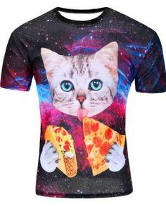 #Hongerige #Ruimte #Kat #T-shirt
