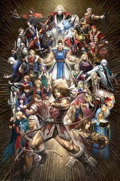 All the awesome Castlevania characters in one piece of fan art. suhweet!