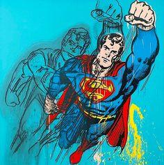 Andy Warhol SUPERMAN 1981 acrylic and silkscreen ink on canvas