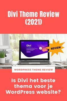 Het Divi Thema is een razendpopulair thema om je WordPress website mee te maken. Tijd voor een review! Is Divi inderdaad het beste thema voor je WordPress website? Website, Wordpress Theme, Om, Stuff Stuff