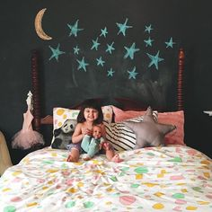 """""""We loved seeing our #ohjoyfornod Pattern Party bedding in this cutie's new big girl room  (Thanks @pvega for sharing!)"""""""