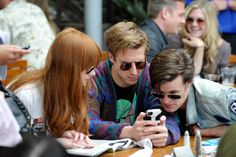 Karen Gillan, Arthur Darvill and Matt Smith attend WIRED Cafe at Comic-Con held at Palm Terrace at the Omni Hotel on July 12, 2012 in San Diego, California.