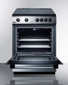 Summit Clre24 24 Inch Freestanding Electric Range With 4 Radiant Elements Slide In