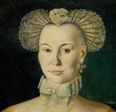 Detail from a portrait of Clara Rosenborg by Benjamin Branting Nilsson, 1768