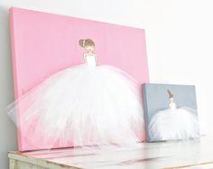Ballerina Art Nursery Decor Glitter Gold Lady by ShenasiConcept